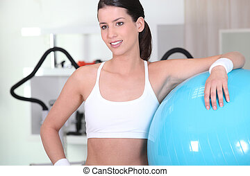 Woman during fitness training