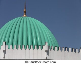 Roof of Amir Timur Museum - The roof of the Amir Timur...
