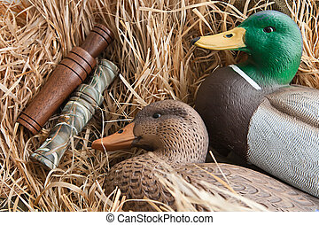 duck decoy with stuffed and calls - duck decoy with stuffed...