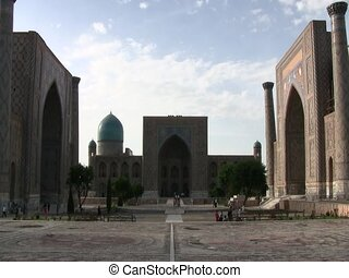 Ragistan in Samarkand - The square of the Registan in...