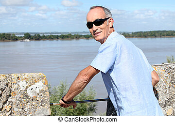 Pensioner stood by waterfront