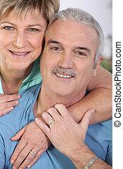 Portrait of an affectionate couple