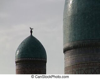 Domes of the Registan - Domes at the top of the Registan in...