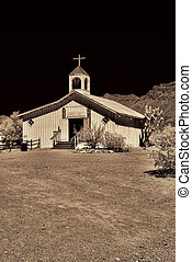 Old time western wooden church