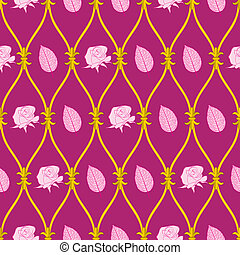 seamless abstract pink rose pattern