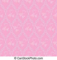 seamless abstract pink orient pattern