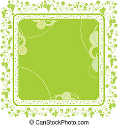 green grape frame