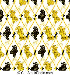 seamless abstract golden grape pattern