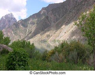Green valley in Iskanderkul