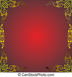red frame with golden decor