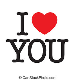 "I Love You - I love you with a big red heart for ""Love"""