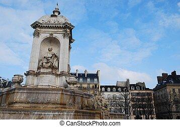 Saint Sulpice fountain, Paris - The Saint Sulpice fountain...