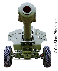 artillery howitzer stem forward closeup