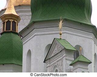 Part of St. Sophia's Cathedral in Kiev, Ukraine