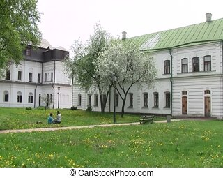Courtyard of St Sophia Cathedral - courtyard of the...