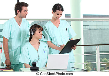 Nurses in training