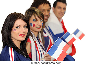 Group of French football supporters