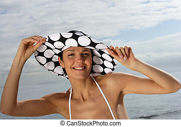 Woman wearing hat
