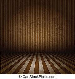 Grunge striped interior