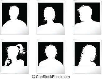 People Avatars - People avatars in photo frames with shadows