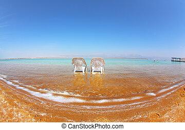 Medical beach on the Dead Sea