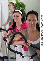 Women in fitness club