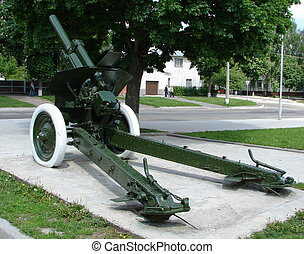 Real Soviet WW2 Mortar M-30 03