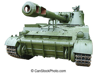 self-propelled armored howitzer - isolated self-propelled...