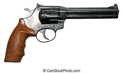 aislado, moderno, revólver