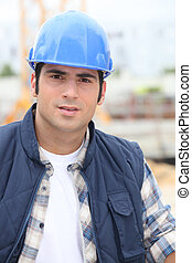 Construction worker in a hardhat