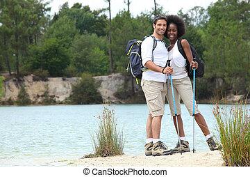 Couple at a lake
