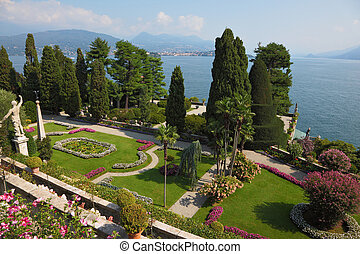 The island of Isola BellaLake Maggiore - High resolution...