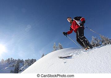 Male skier
