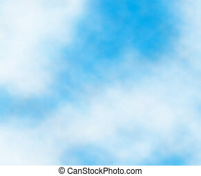 Cloud detail - Editable vector background detail of white...