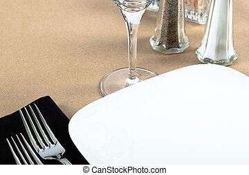 Casual Bistro Table Place Setting