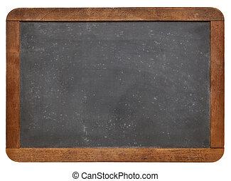 黑板, 板岩, 空白