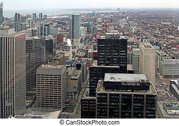 Toronto City View - The view of the city from the 46 floor