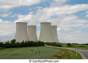 Nuclear power plant towers, a symbol of energy solution