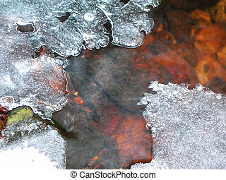 Winter brook - Swift brook is covered by ice in the winter...