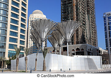 Downtown district West Bay in Doha, Qatar, Middle East