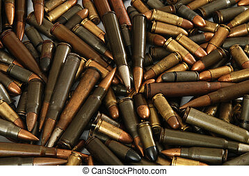 Bullets - A big pile of various gun bullets