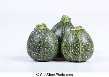 Three zucchinis.