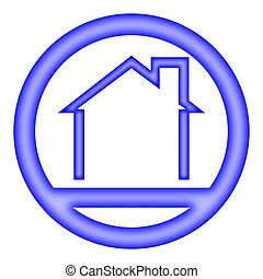 Blue house - sign