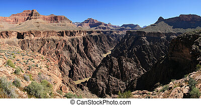 Grand Canyon Inner Gorge panorama from the Tonto Platform...