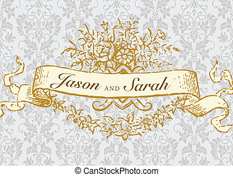 Vector Gold Frame and Background