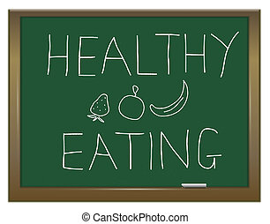 Healthy eating concept. - Illustration depicting a green...