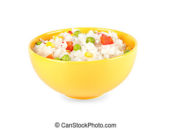 Rice and vegetables in a bowl