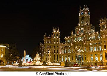 Plaza de la Cibeles and Palacio de Comunicaciones, Madrid,...