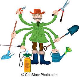 Gardener grandpa