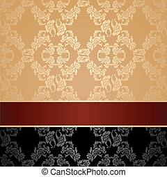 Seamless pattern, floral decorative background, maroon...